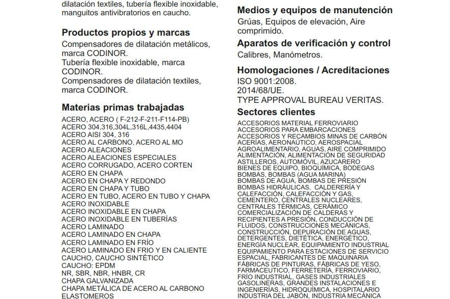 Catálogo Subcontratación 2017
