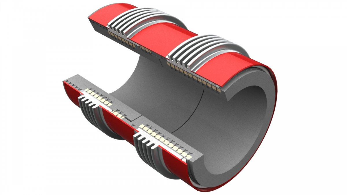 Compensador de dilatación con hormigón refractario