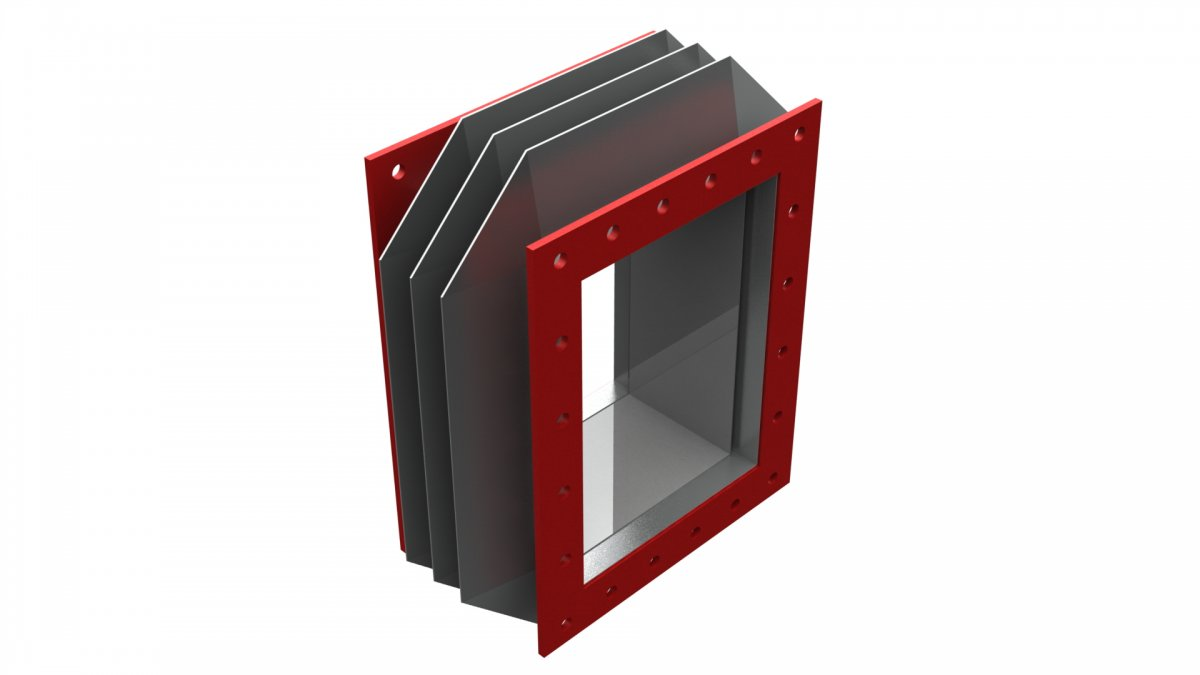 Compensador de dilatación rectangular